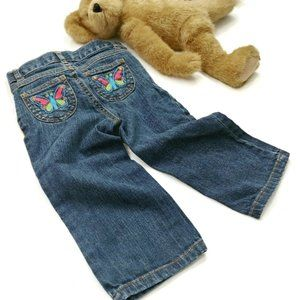 Carter's Butterfly Poccket Jeans Size 18 Months